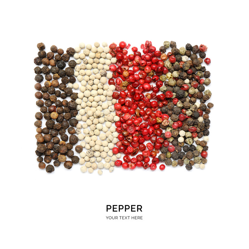 Pepper seeds mixed